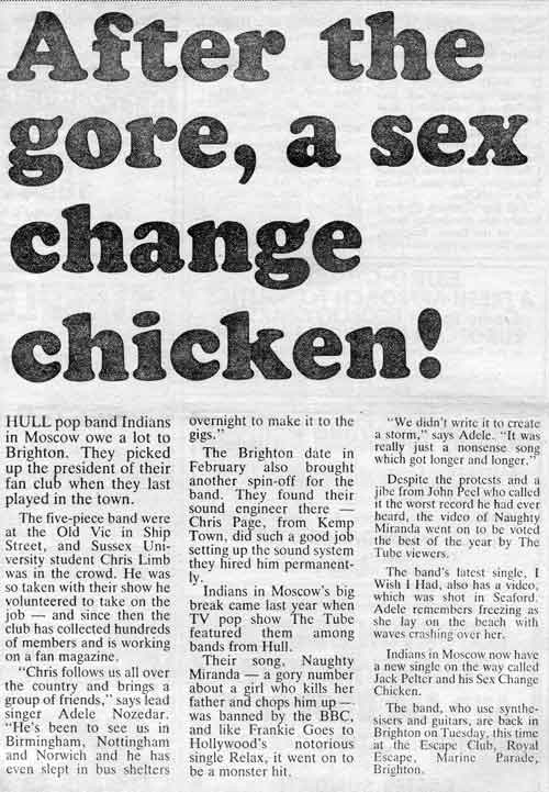 After the gore, a sex change chicken!